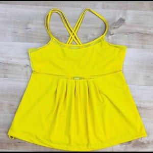 Adidas by Stella McCartney Yellow Mesh Tank Top